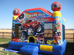 Racing Fun Medium Bounce House