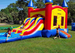 4 in 1 Double Slide Castle Combo (Wet or Dry)