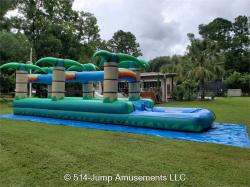 Double Tropical Slip n Slide w/ pool