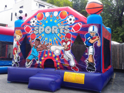 Large Sports Bounce (2 in 1, hoop inside)