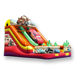 21' Cars Dual Lane Slide