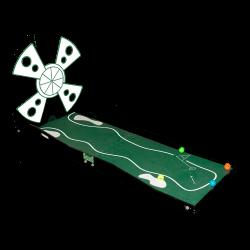 Mini Golf: Single hole w/ windmill