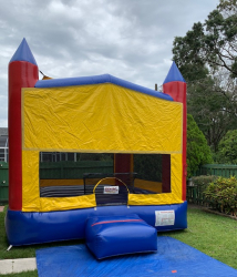 Modular Castle 2 and 1 Bounce House With Basketball
