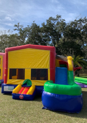 Module Wet n Dry Combo Multi-Colored Bounce House