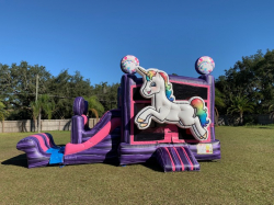 Unicorn Bounce House With Dry Slide