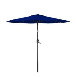 Round Patio Blue Tilt Umbrella