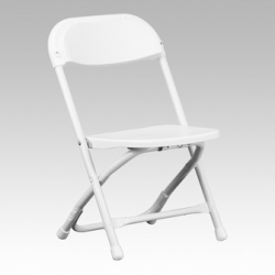 White Kids folding chairs