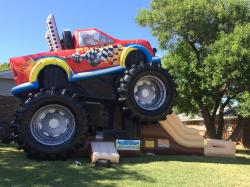 Monster Truck Bounce House & Slide Combo