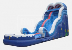 18' Blue Wave Slide with pool