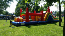Mega Rainbow Obstacle course $285