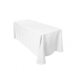 White 90x 156 Banquet Linen