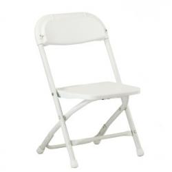 Children's White Poly Folding Chair