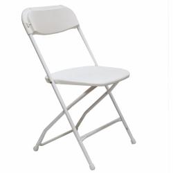 White Poly Folding Chair