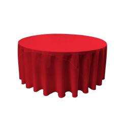 Red 120 Round Linen