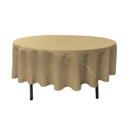 Taupe 90 Round Linen
