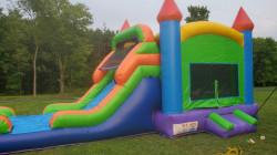 Rainbow Bounce House Wet or Dry Slide Combo