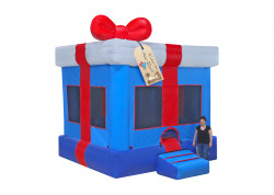 Gift Box Blue nowm 3 1613419733 Blue Gift Box Moon Bounce