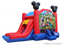Mickey and Friends EZ Combo Wet or Dry nowm 3 1613160112 Mickey and Friends Bounce Slide (Dry)