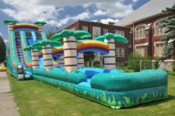 Tropical Double Lane Slip N Slide 24' Tropical Slip and Slide