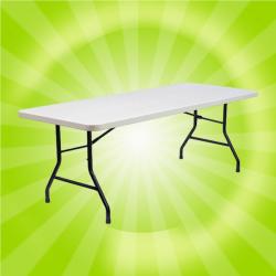 White Rectangular Folding Table