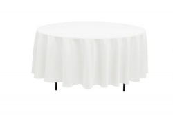 108 Round Linen Tablecloth