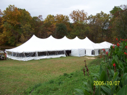 40 x 120 Tent with set up