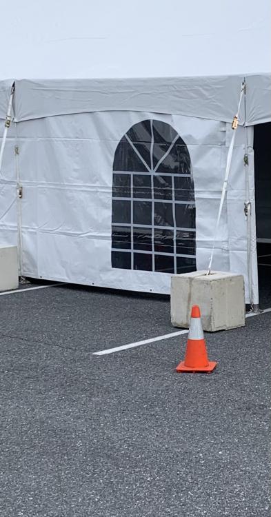 Concrete Blocks for frame tents