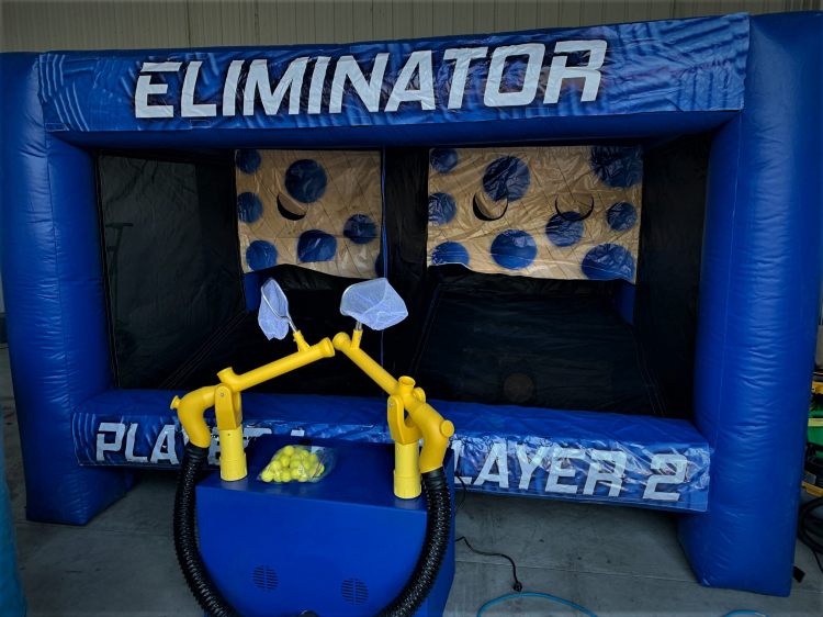 Cannonball Launcher Inflatable Game