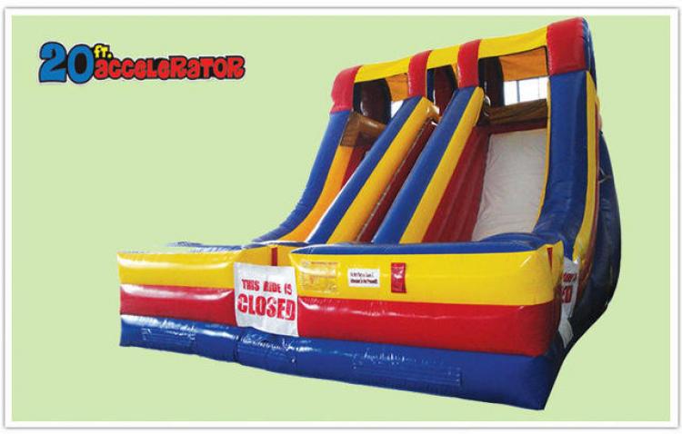 20' Duel Accelerator Inflatable Slide