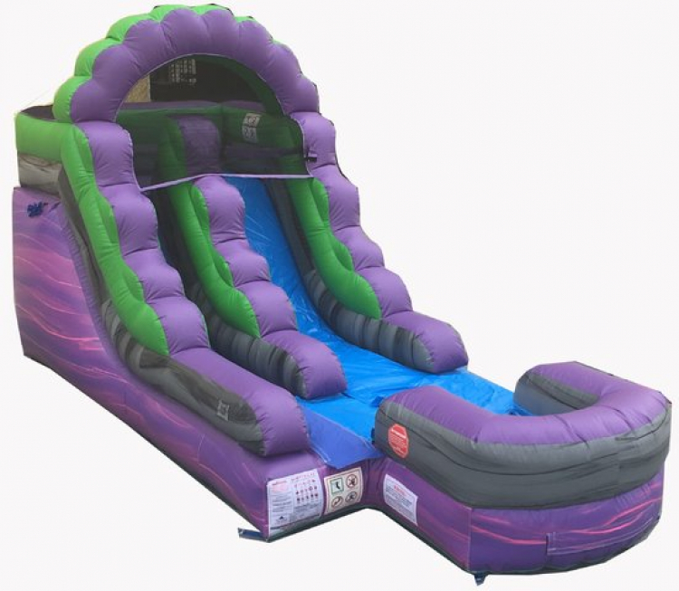 15' Purple Rush Water Slide