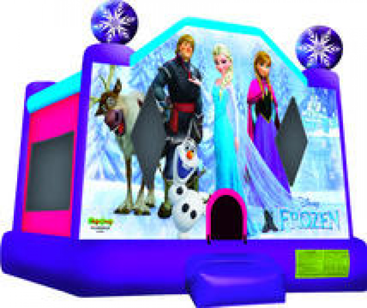 Disney Frozen Bounce House with Basketball Hoop
