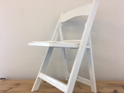 White Folding Chairs with cushions