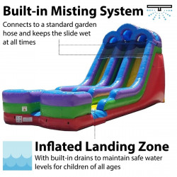 18 FOOT DUAL WATER SLIDE
