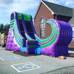 19ft Purple Pipeline Slide (wet)