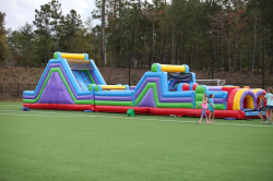 70 Ft Obstacle Course with Rock Climb Slide