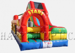 Single Lap Obstacle Challenge with Slide