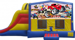 Extreme Monster Truck Bouncer with Slide
