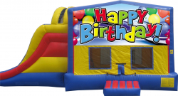 Extreme Happy Birthday Bouncer with Slide
