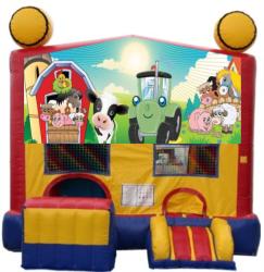 Farm Animals Modular Bouncer with Slide