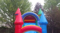 Rainbow with Water Slide and Pool