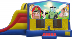 Extreme Farm Animals Bouncer with Slide