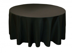 5ft Round Linen Black (Full Length)