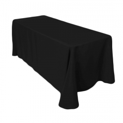 6ft Rectangular Black Linen (Full Length)