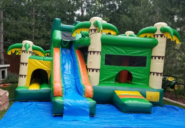 Amazon Jungle Combo With Water Slide And Pool
