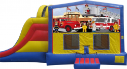 Firetruck Extreme Bouncer with Slide