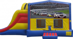 Race Car Extreme Bouncer w/ Pool