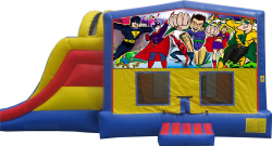 Superhero Extreme Bouncer with Slide
