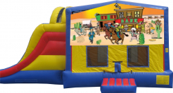 Western Extreme Bouncer with Slide