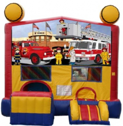 Firetruck Playland with Slide