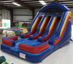 16' Double Lane Water Slide